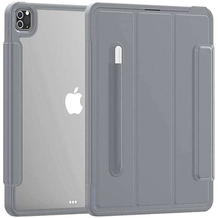 Étui Robuste pour iPad Pro 12,9 Pouces 2018/2020 Armure Antichoc Sommeil/réveil Automatique Cuir PU + Couverture Rigide en TP338083
