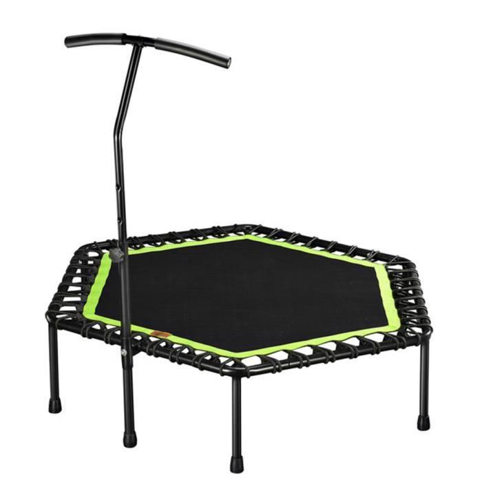 Mini-trampoline silencieux de 48 -avec poignée réglable