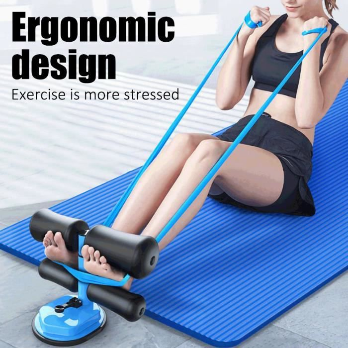 VICICA Multifonctionnelle Sit-up de formation d'exercice Abdominaux Appareil musculation entraînement abdo Bleu
