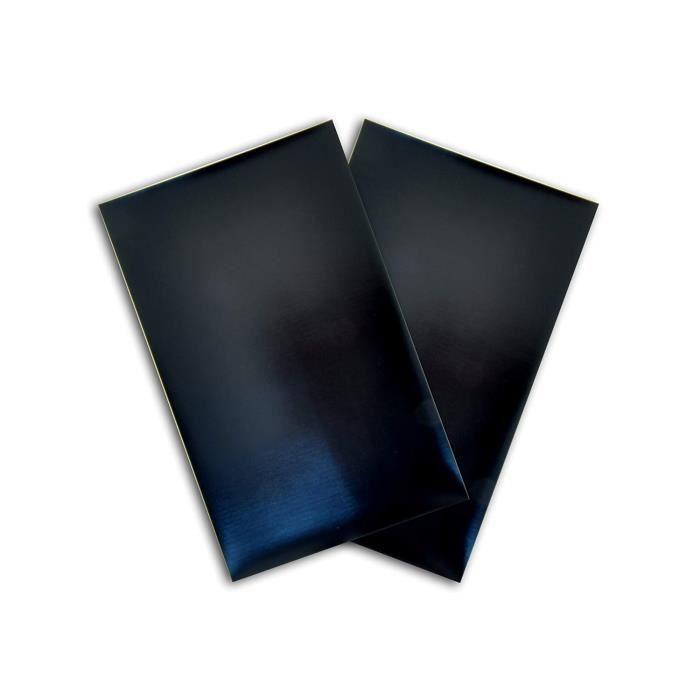 Toga QC39 Feuille Aimanté Adhésif Plastique Noir 13 x 20 x 0,1 cm