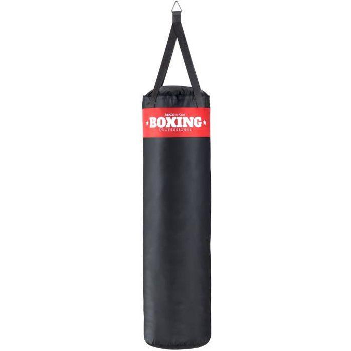 SOGO Sport Sac de frappe rembourre boxe punch bag kickboxing Arts Martiaux [XXL env. 120x35cm]