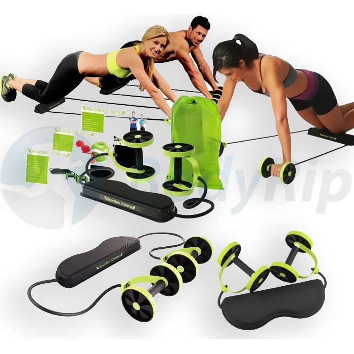 BodyRip Revoflex Xtreme Gym de corps total Exercice de résistance abdominale Abs Trainer