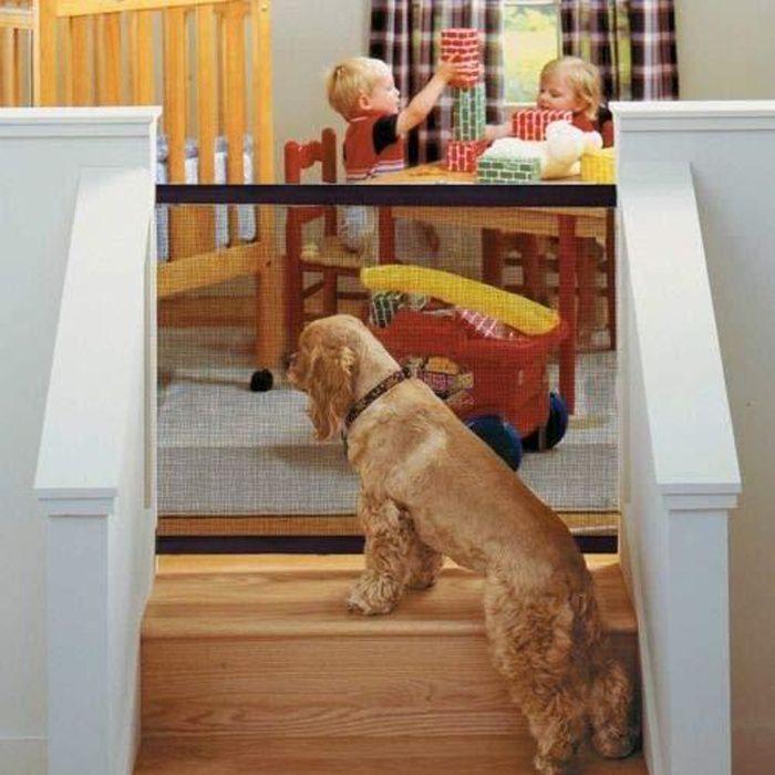 Porte de Sécurité Magique Barrière Pliable Filet de l'isolation pour Chiens les Petits Animaux, 180 * 72cm