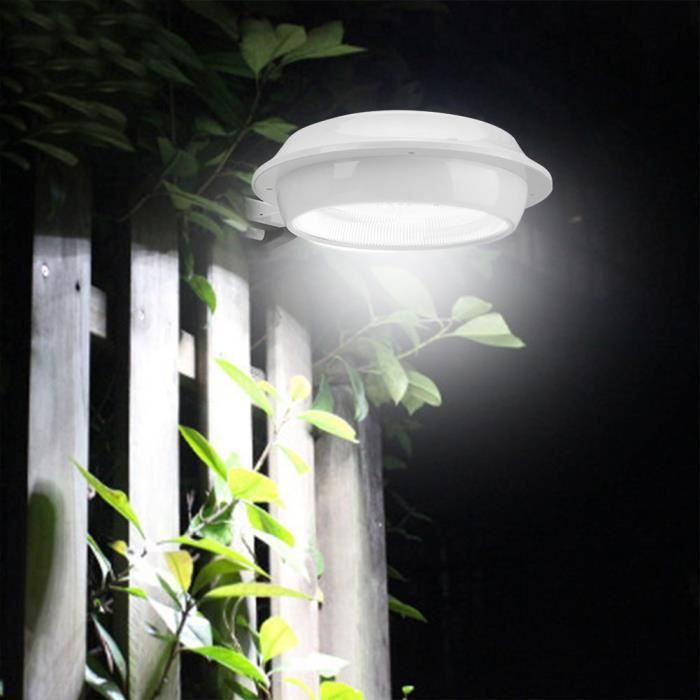 12 LED Extérieur Jardin Solaire Puissance Lumière Clôture Applique murale (Lumière blanche)-ROS