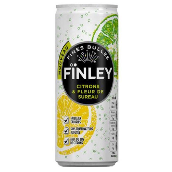 Finley Citrons Fleur de Sureau 25cl (pack de 24)