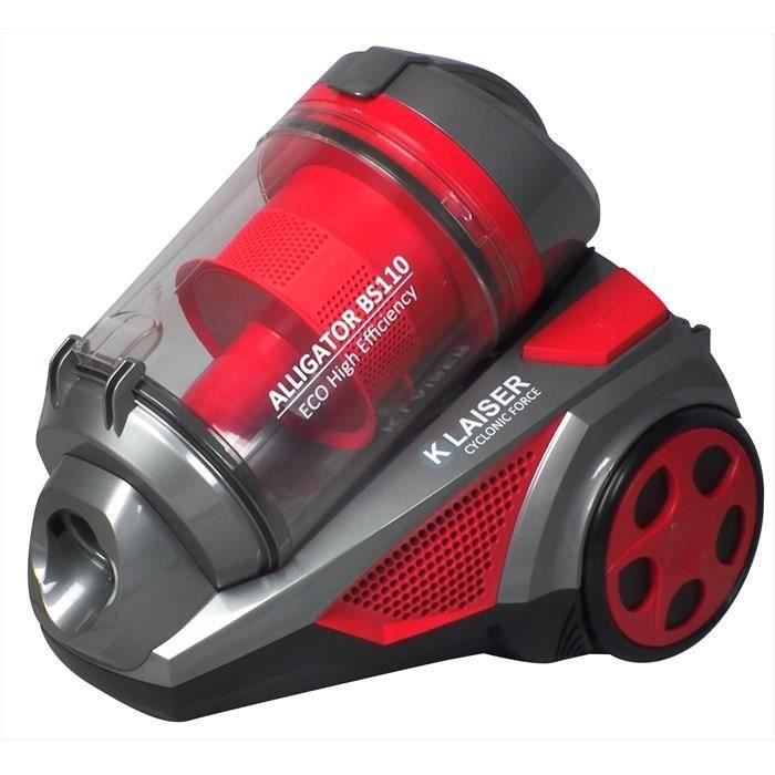 KLAISER - 1600W - Aspirateur Sans Sac Xtreme Force Multi Cyclone - Pure Air-Ultra Confort - Cordon Extra Long 7 Mètres