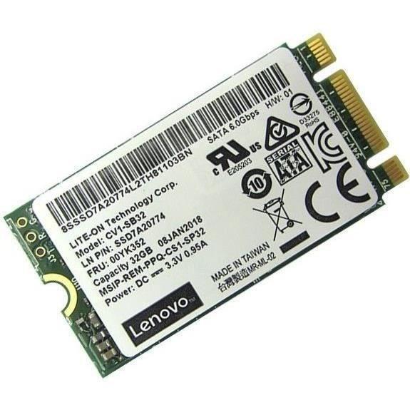 LENOVO Disque SSD 2,5- ThinkSystem CV1 - 32 Go - interne - M,2 - SATA 6Gb/s