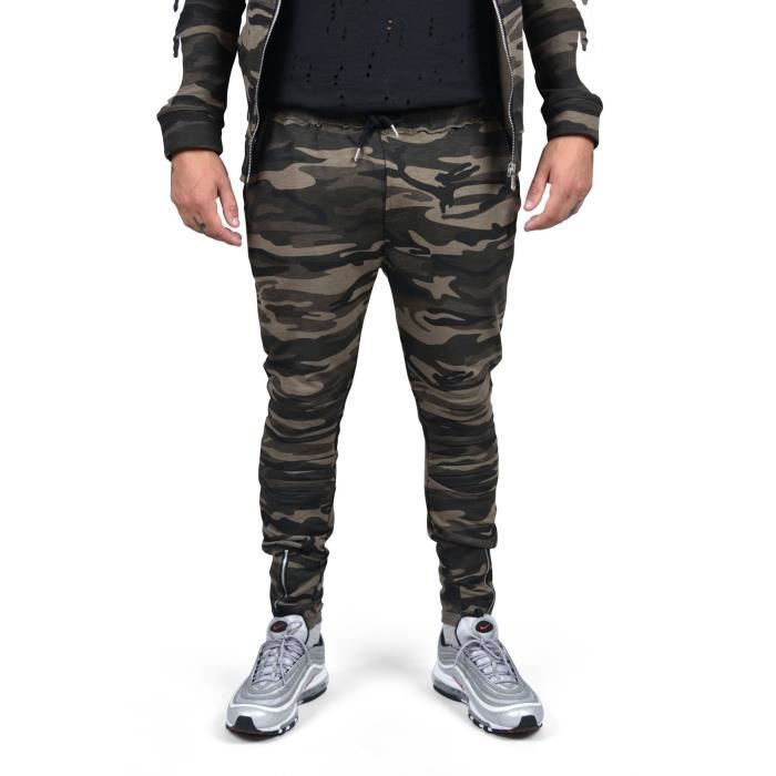 Bas de jogging Camo homme Project X Paris (XL - Kaki)