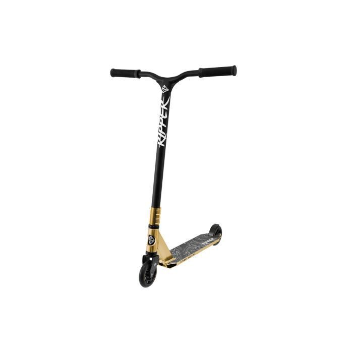 StreetSurfing RIPPER BLOODY GOLD, Trottinette Stunt, Noir, Or, 2 roue(s), Frein à pied, 10 cm, Aluminium
