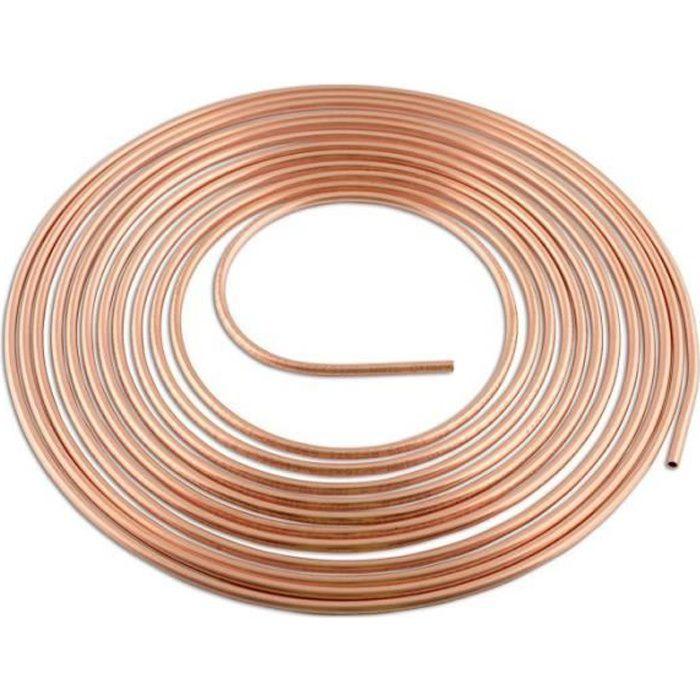 Tuyau de cuivre de frein 4.75mm longueur 10 m
