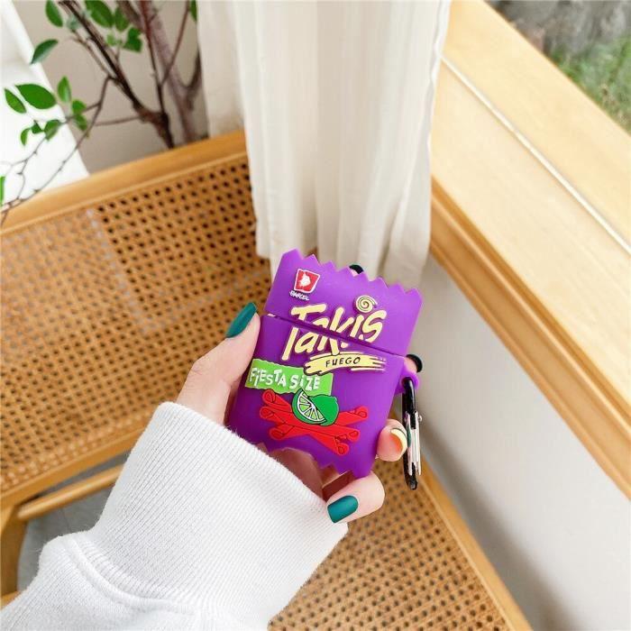 G-For Airpods Pro case -Eau artésienne naturelle Pour AirPods 2 1 pro biscuits aux pépites de Chocolat boîte en silicone souple Sans