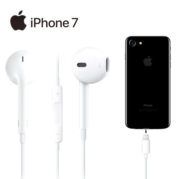 apple iphone 7 earpods original headset achat kit pi ton pas cher avis et meilleur prix. Black Bedroom Furniture Sets. Home Design Ideas