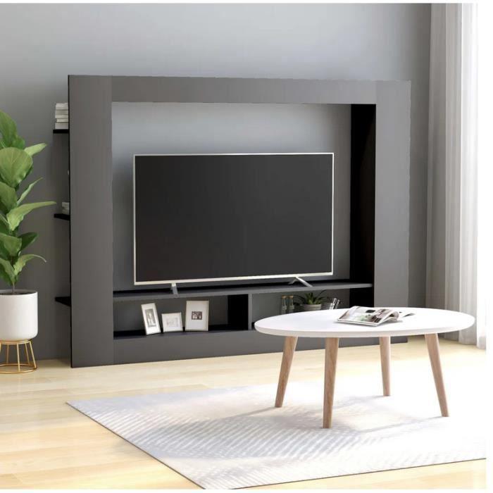 Meuble Tv Gris 152x22x113 Cm Mode Simple Design Petit Salon Mural Etageres Robuste Solide Brillant Facile A Monter Achat Vente Meuble Tv Mural Meuble Tv Gris 152x22x113 C Cdiscount