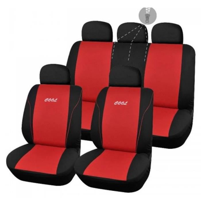 housses de si ge rouge pour dacia sandero stepway 148 achat vente housse de si ge housses. Black Bedroom Furniture Sets. Home Design Ideas