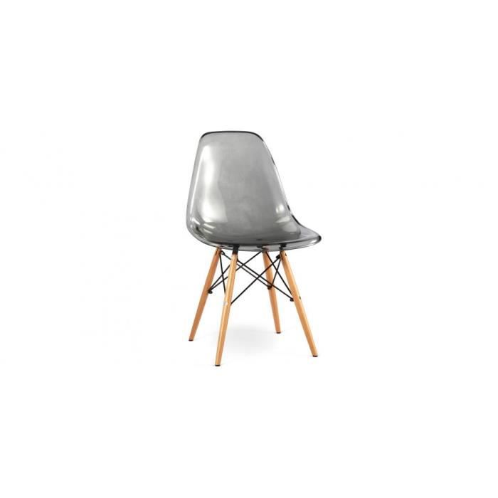 Chaise inspir e charles eames acrylique trans achat for Fauteuil eames transparent