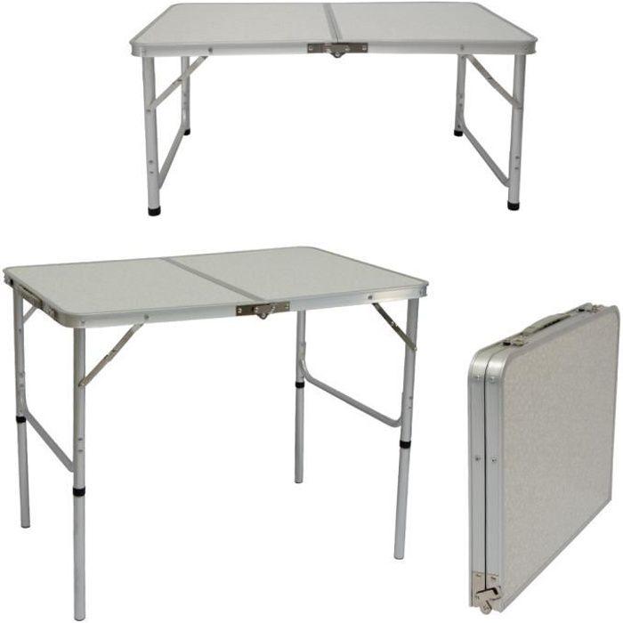 Table Pliante Table De Camping Env 70 X 70 X 70 Cm Couleur