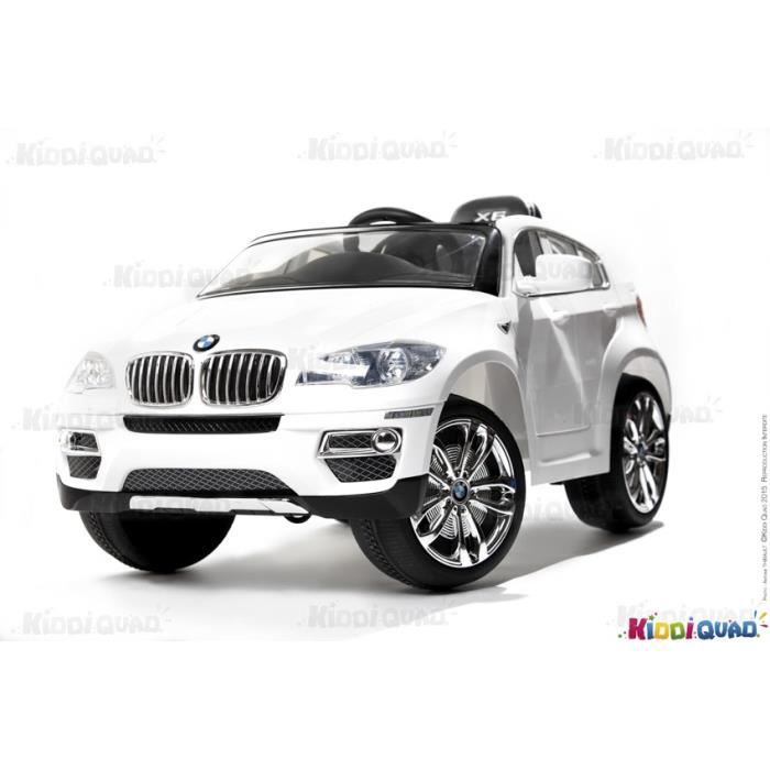 voiture lectrique pour enfant bmw x6 blanc achat. Black Bedroom Furniture Sets. Home Design Ideas