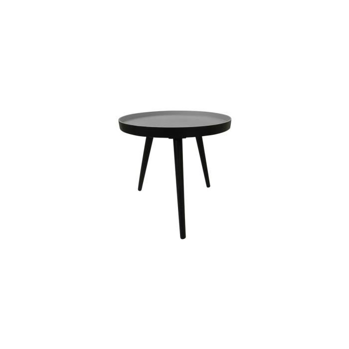 Table basse ronde tr pied false couleur noir achat vente table basse tabl - Table basse ronde noir ...