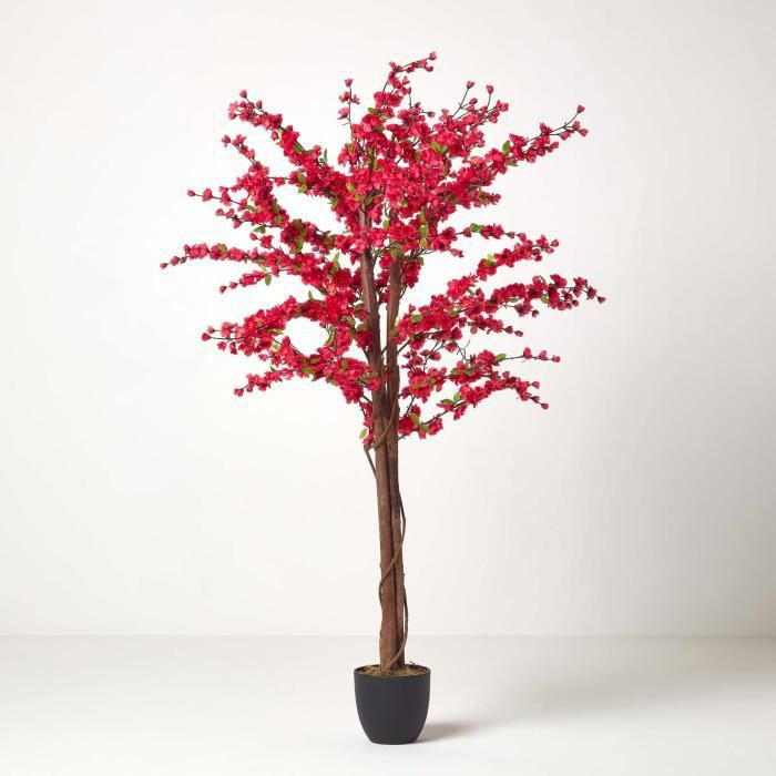 cerisier prunus artificiel du japon en fleur coloris cerise 153 cm achat vente fleur. Black Bedroom Furniture Sets. Home Design Ideas