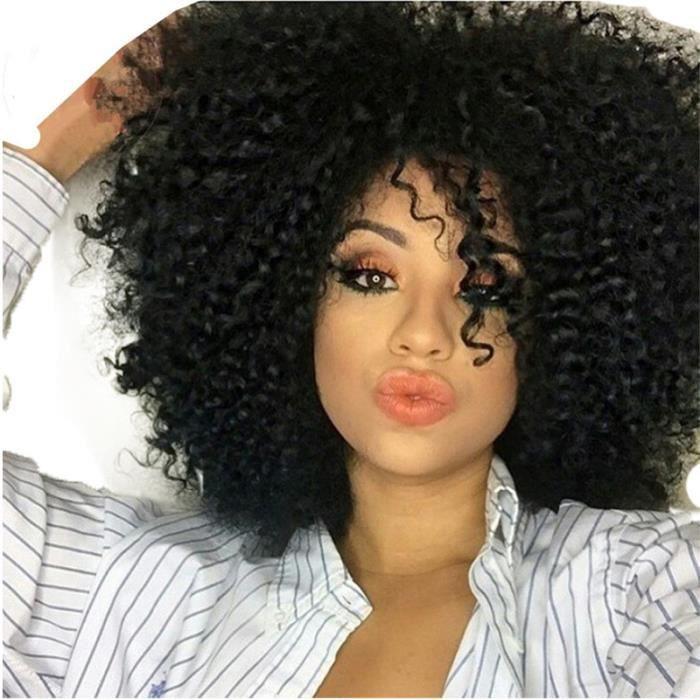 Perruque D Afro Noir Naturel Perruques De Cheveux Achat Vente Perruque Postiche Perruque D Afro Noir Nature Cdiscount