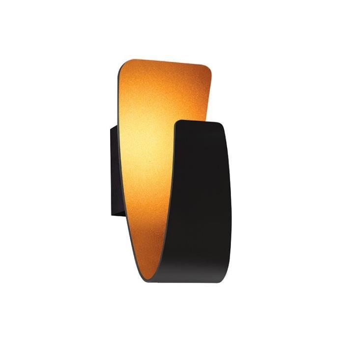 APPLIQUE  Applique Design LED Pretty noire lampe dorée