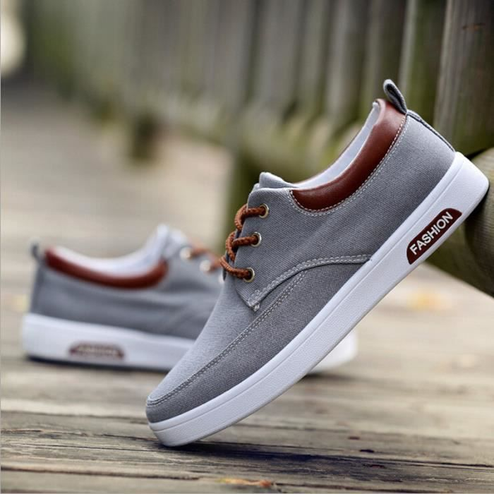 mode chaussure homme basket homme skate shoes c gris. Black Bedroom Furniture Sets. Home Design Ideas