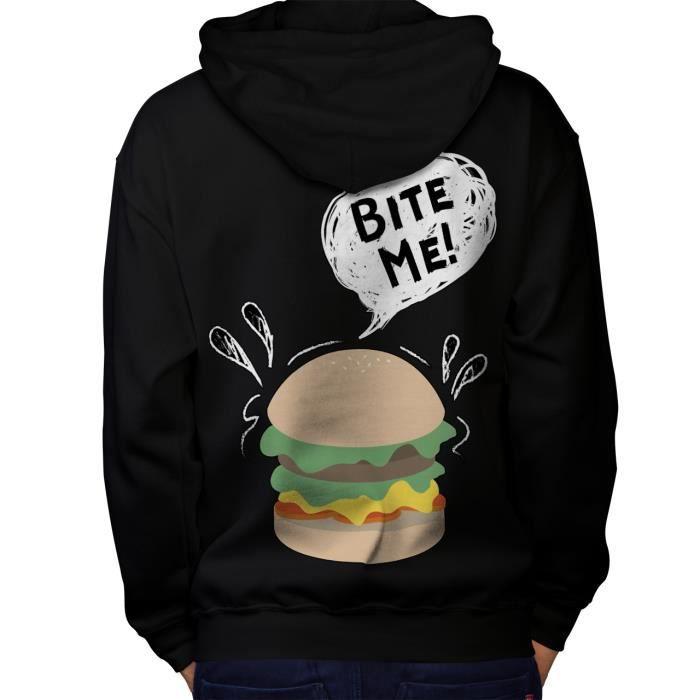 Food Art Casual Sweat à capuche Wellcoda Cheese Burger Sweat à capuche