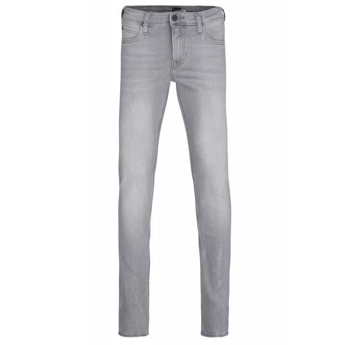 c53295a1fc4c8 Lee Malone Skinny Jeans Skinny pour hommes gris 5 poches Gris Gris ...