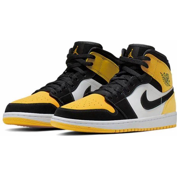 "Basket Air Jordan 1 Mid SE""Yellow Toe""Chaussure de Sport AJ 1 Pas ..."