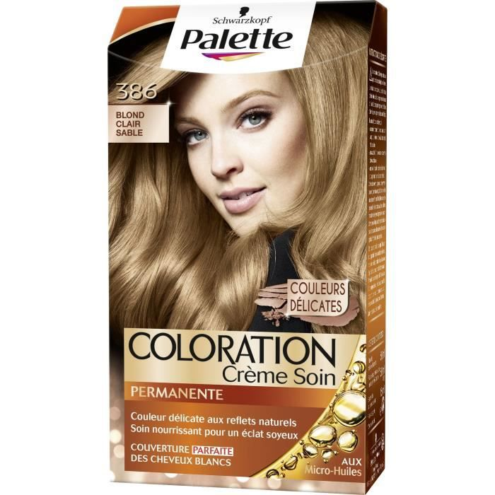 Coloration non permanente cheveux blond