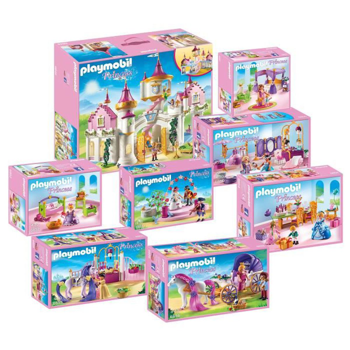 assemblage construction playmobil 6848 grand chateau de princesse set co