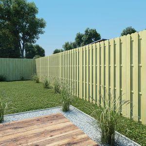 CLÔTURE - BARRIÈRE Panneau de clôture 180 x 180 cm Bois imprégné FSC-