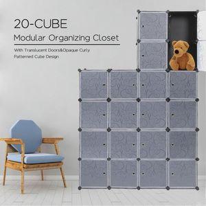 ARMOIRE DE CHAMBRE 20 Cubes Armoire de Chambre avec porte avec Pender