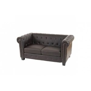 canap chesterfield marron achat vente canap chesterfield marron pas cher cdiscount. Black Bedroom Furniture Sets. Home Design Ideas
