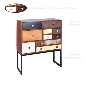 Commode Vintage, Commode bois massif, Commode 10 tiroirs ...