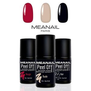 VERNIS A ONGLES Vernis semi-permanent peel off • 3 vernis à ongles