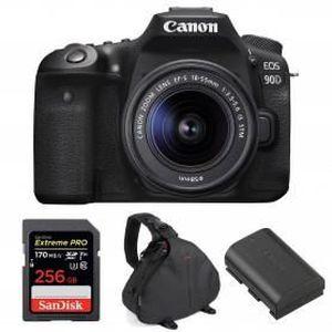 PACK APPAREIL RÉFLEX Canon EOS 90D + 18-55mm IS STM + SanDisk 256GB Ext