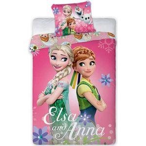 HOUSSE DE COUETTE ET TAIES Disney Reine des NEIGES Parure de lit Bébé 100% Co