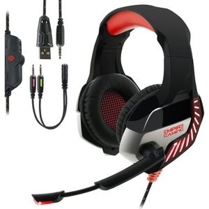 CASQUE AVEC MICROPHONE EMPIRE GAMING  - Casque Gaming H1200 pour PC, MAC,