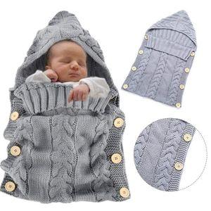 GIGOTEUSE - TURBULETTE  Chaud Tricot À Capuche, Nouveau-né Bébé Vêtements