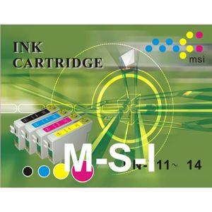 CARTOUCHE IMPRIMANTE (MSI) 1 noire + 3 couleurs compatibles LC123