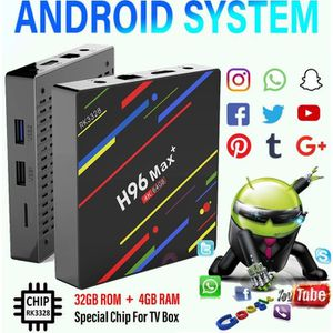 BOX MULTIMEDIA T4W H96 Max Plus RK3328 4G / 64G Android 8.1 USB3.