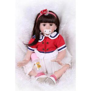 POUPÉE 60 CM Reborn bébé silicone vinyle poupées à la mai