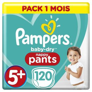 COUCHE PAMPERS BABY-DRY PANTS Taille 5+ - 120 couches - P