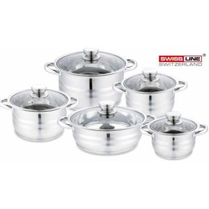 FAITOUT - MARMITE  Lot de 5 Casserolles Induction Acier Inoxydable a