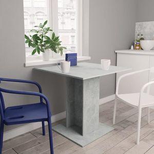 TABLE À MANGER SEULE Table de salle à manger Gris béton 80x80x75 cm Agg