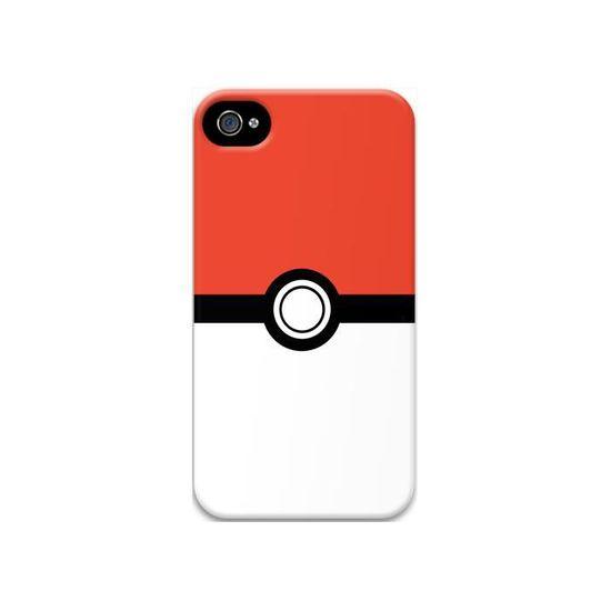 coque iphone 4 pokemon pokeball original rouge