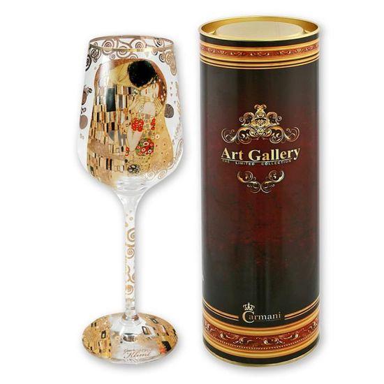Carmani Fantaisie Verre A Vin Décoré Avec De La Peinture De Klimt 41436 Achat Vente Verre à Vin Cdiscount