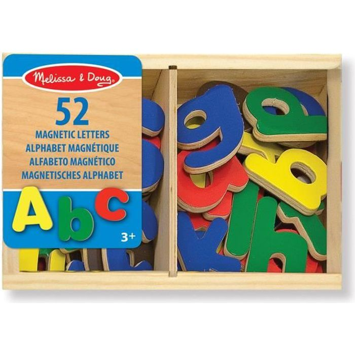 MELISSA & DOUG - 52 Aimants Alphabet En Bois