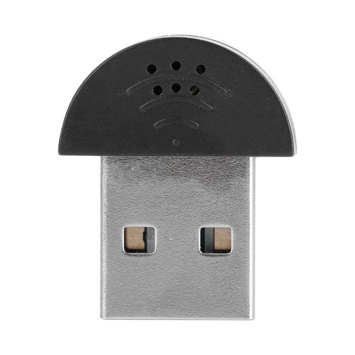 Aiz Portable Usb Mini Studio Microphone De La Parole Enregistrement Audio Mic Adaptateur Pour Ordinateur Pc Noir